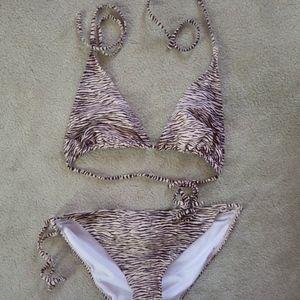 Urban Outfitters Swim - Animal Print Brown Zebra Ecote Bikini